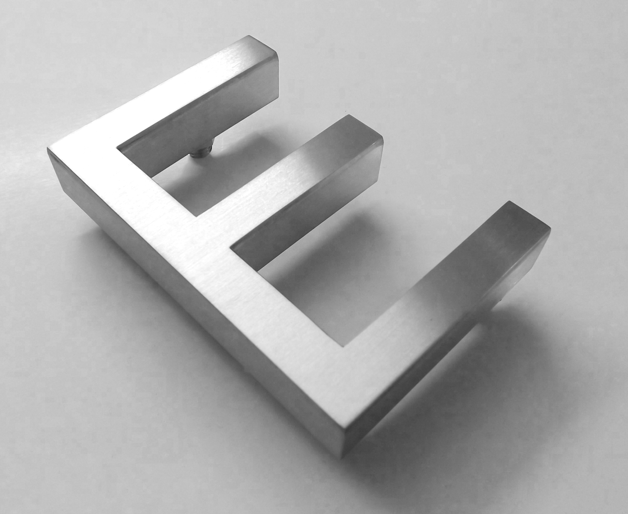 002-stainless-steel-letter-e-built-up-2000pix  D Letter E Template on printable box, cut out,